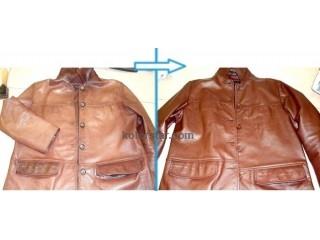Ремонт и покраска кожаной куртки