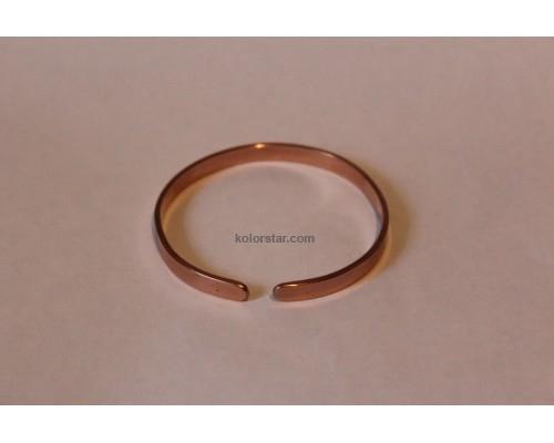 Medical bracelet made of smooth copper 6 mm