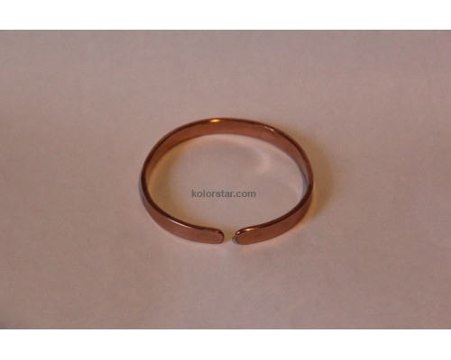 Healing bracelet made of smooth copper 8 mm