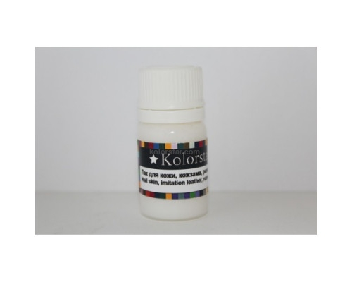 Varnish for leather, leather, rubber and pvc - 15 gr