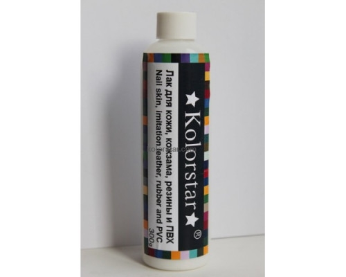 Varnish for leather, leatherette, rubber and PVC - 350 gr